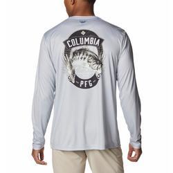 COLUMBIA TERMINAL TACKLE PFG VINTAGE SIGN L/S SHIRT COOL_GREY/BASS