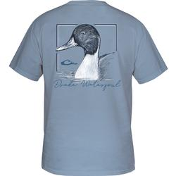 DRAKE PINTAIL S/S T DUSTY_BLUE