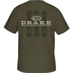 DRAKE TRI-CALL S/S T ARMY_GREEN_HEATHER