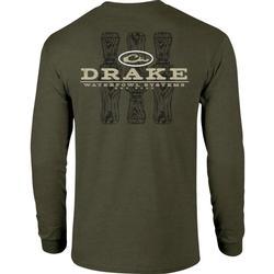 DRAKE TRI-CALL L/S T ARMY_GREEN_HEATHER