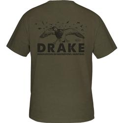 DRAKE INCOMING S/S T ARMY_GREEN_HEATHER