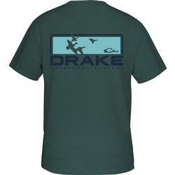 DRAKE KNOCKOUT S/S T BLUE_SPRUCE_BLK_HTHR
