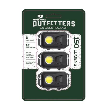 MOSSY OAK OUTFITTERS 3 PACK HEADLAMP