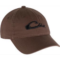DRAKE COTTON TWILL LARGE LOGO CAP BROWN