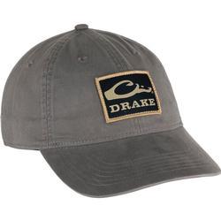 DRAKE COTTON TWILL PATCH CAP GREY