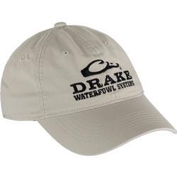 DRAKE COTTON TWILL SYSTEMS CAP KHAKI