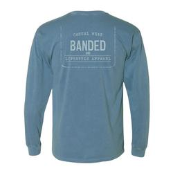 BANDED LIFESTYLE FADED TAG L/S TEE BLUE_JEAN