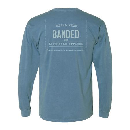 BANDED LIFESTYLE FADED TAG L/S TEE