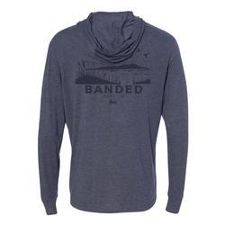 BANDED SUNBURST HOODED L/S TEE VINTAGE_NAVY