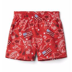 COLUMBIA YOUTH SUPER BACKCAST SHORT RED_SPART/AMERICANA