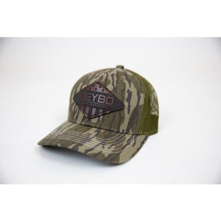 HEYBO MERICA LEATHER PATCH MESHBACK HAT