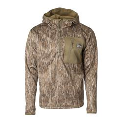BANDED HOODED MID LAYER 1/4 ZIP BOTTOMLAND