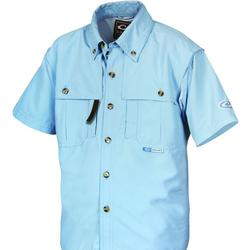 DRAKE YOUTH S/S CASUAL SHIRT BABY_BLUE