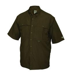 DRAKE YOUTH S/S CASUAL SHIRT OLIVE