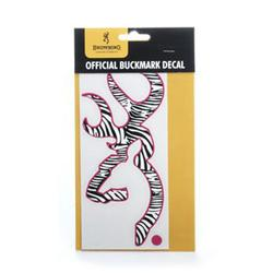 BROWNING ANIMAL PRINT DECAL ZEBRA/FUCHSI