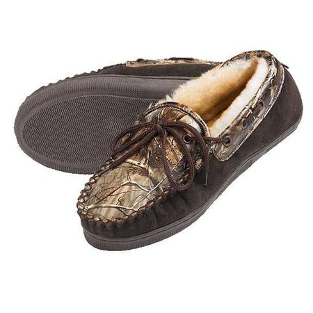WEBER`S CAMO LEATHER SLIPPERS
