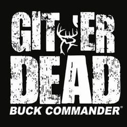BUCK COMMANDER GITER DEAD DECAL WHITE