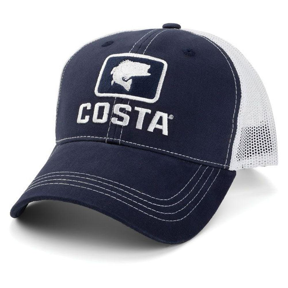 50ed59b93c1 COSTA XL BASS TRUCKER HAT NAVY WHITE. COSTA DEL MAR