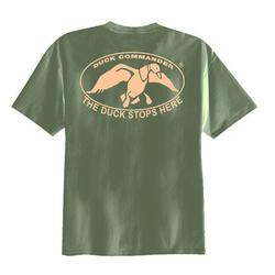 DC DUCK STOPS HERE T-SHIRT MILITARY_GRN