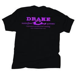 DRAKE LOGO T-SHIRT S/S BLACK/PINK