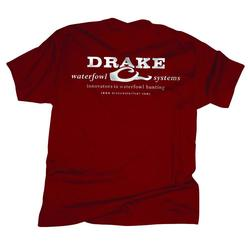 DRAKE LOGO T-SHIRT S/S RED/WHITE