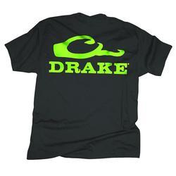 DRAKE DUCKHEAD LOGO S/S T-SHIRT BLACK/LIME