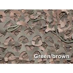 3-D CAMO MILITARY NETTING PACK GREEN/BROWN