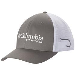 COLUMBIA PFG MESH BALL CAP TITANIUM/HOOK