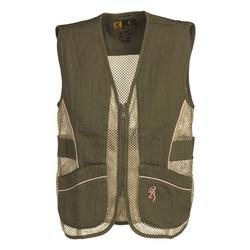 BROWNING JR. MESH SHOOTING VEST SAGE/PINK
