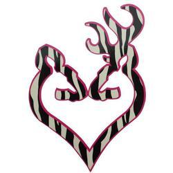 BROWNING BUCK HEART DECAL ZEBRA