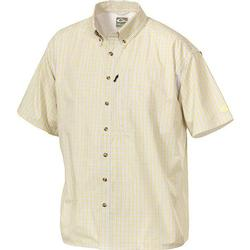 DRAKE S/S VENTED DELTA SHIRT YELLOW