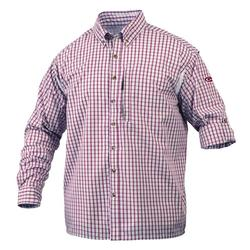 DRAKE L/S VENTED DELTA SHIRT RED