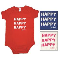 DC HAPPY BABY ONESIE RED/WHITE