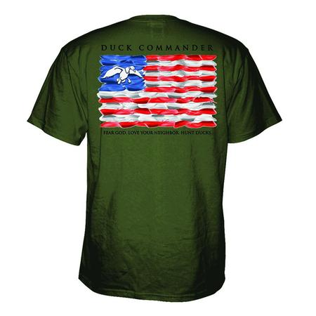 DUCK COMMANDER FLAG T-SHIRT