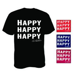 DUCK COMMANDER HAPPY S/S T-S HEATHER_RED