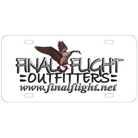 FINAL FLIGHT LICENSE PLATE
