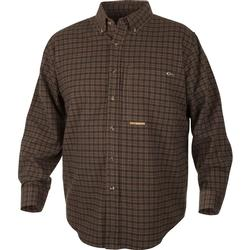 DRAKE AUTUMN BRUSHED TWILL L/S GREEN/RED