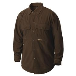 DRAKE THREE POCKET MICRO-FLEECE PINTAIL_BRN