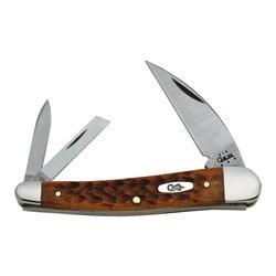 CASE CARAMEL BONE KNIFE SEAHORSE_WHI
