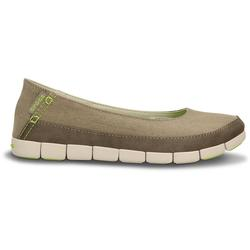 CROCS WOMEN`S STRECH SOLE FLAT KHAKI/STUCCO