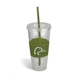 AES DU INSULATED CUP W STRAW GREEN