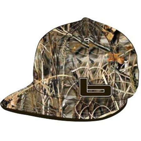 BANDED FITTED FLAT BILL CAP