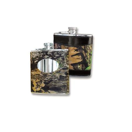 WEBER`S LEATHER CAMO FLASK