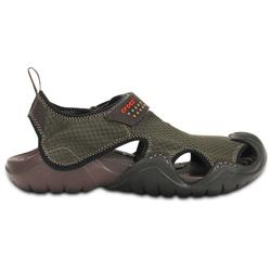 CROCS SWIFTWATER SANDAL MENS ESPRESSO/ESP
