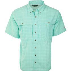 Drake Wingshooter's Plaid Sun Shirt S/S AQUA