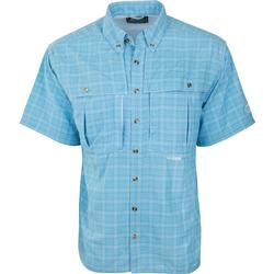 Drake Wingshooter's Plaid Sun Shirt S/S AZURE_BLUE