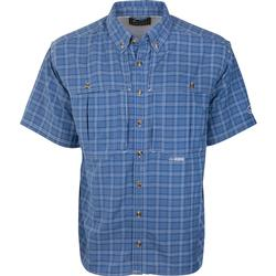 Drake Wingshooter's Plaid Sun Shirt S/S COBALT