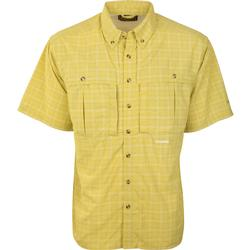 Drake Wingshooter's Plaid Sun Shirt S/S KIWI