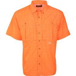 Drake Wingshooter's Plaid Sun Shirt S/S TANGERINE