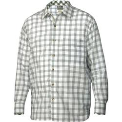 DRAKE ACCENTED GINGHAM SHIRT OYSTER_GRAY